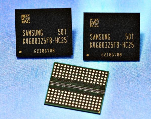 Новая память Samsung GDDR5 поддерживает скорость 8 Гбит/с в расчете на один вывод