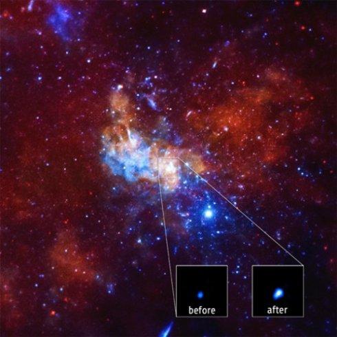 NASA сообщило о яркой вспышке в центре нашей Галактики (фото)