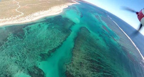 Электросамолет заснял подводный мир во время крушения (видео)