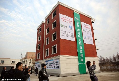 В Китае напечатали на принтере пятиэтажный жилой дом (ФОТО)