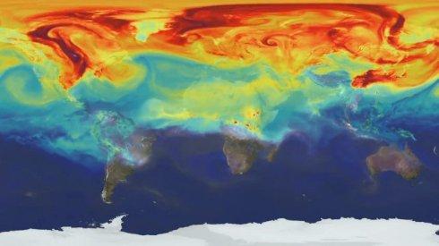 Как углекислый газ распространяется в атмосфере Земли (видео)