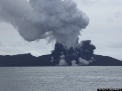 Вулкан создал остров в открытом море