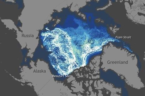 27 лет арктических льдов за одну минуту - 1