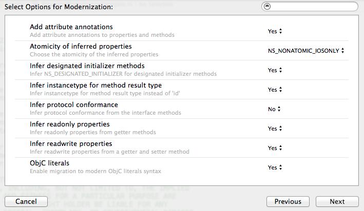 Xcode 6 Objective-C Modernization Tool - 1