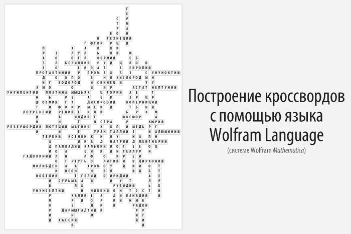 Построение кроссвордов с помощью языка Wolfram Language (Mathematica) - 1