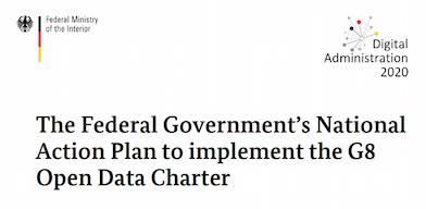Национальный план Германии по реализации Хартии открытых данных G8 - 1