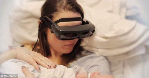 «Умные» очки помогли слепой женщине увидеть своего ребёнка