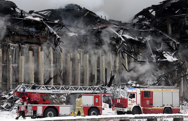 Михаил Метцель/ТАСС, пожар в библиотеке Института научной информации по общественным наукам (ИНИОН) РАН