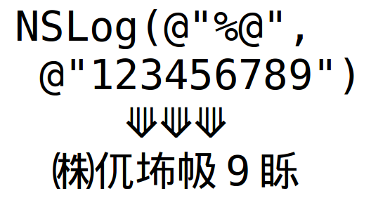NSLog(123456789) !=123456789