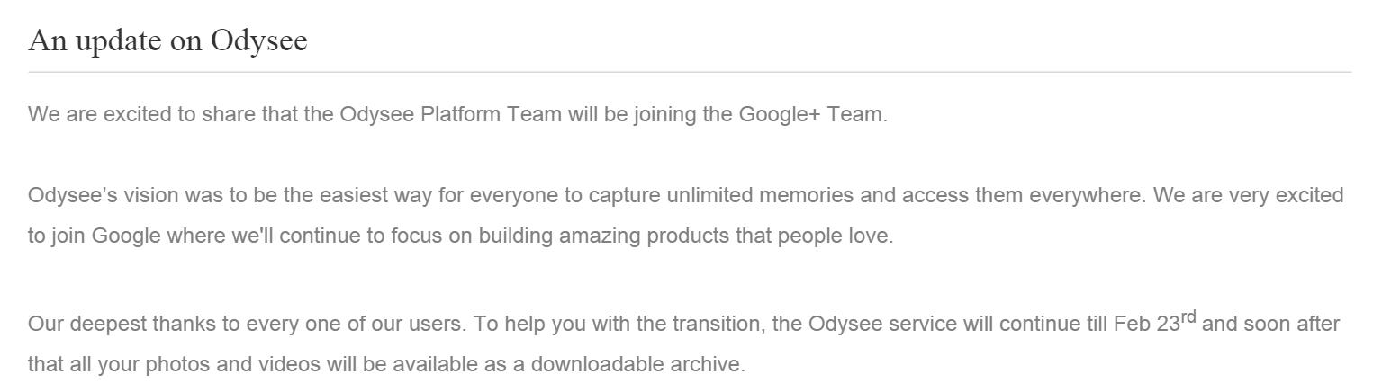 Google поглотил приложение для сохранения фото оффлайн Odysee - 1