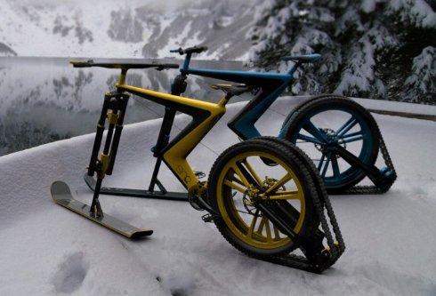 Sno Bike — велосипед, способный ездить по снегу