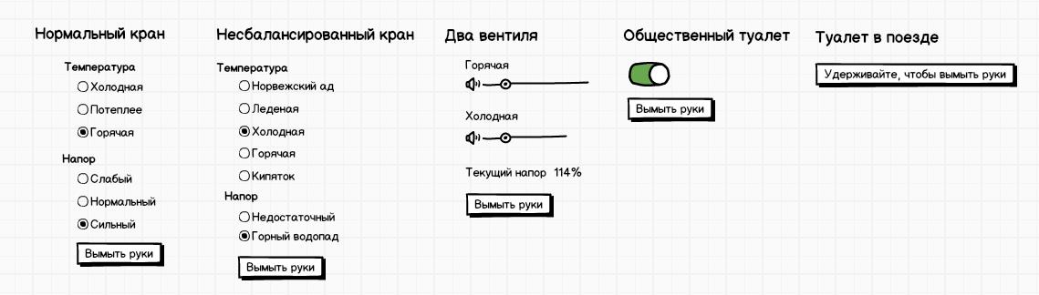 Интерфейсы в реальном мире (ещё примеры) - 1