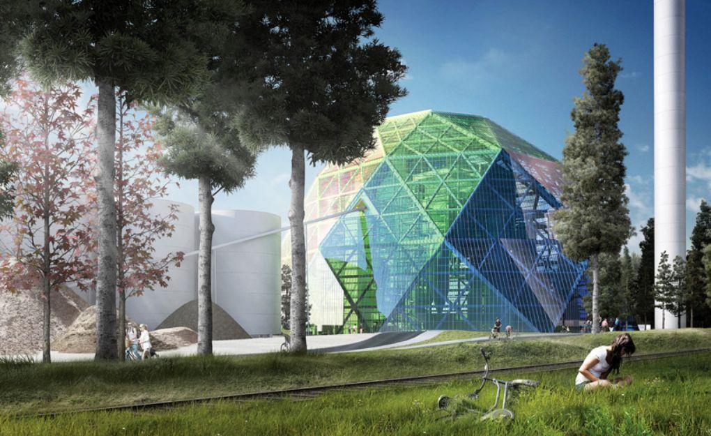 Проект футуристической энергостанции в Швеции - 1