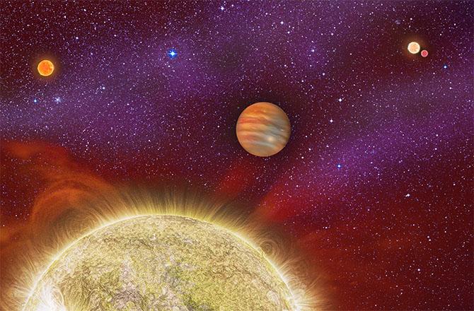 Астрономы обнаружили экзопланету в системе из 4-х звезд - 1