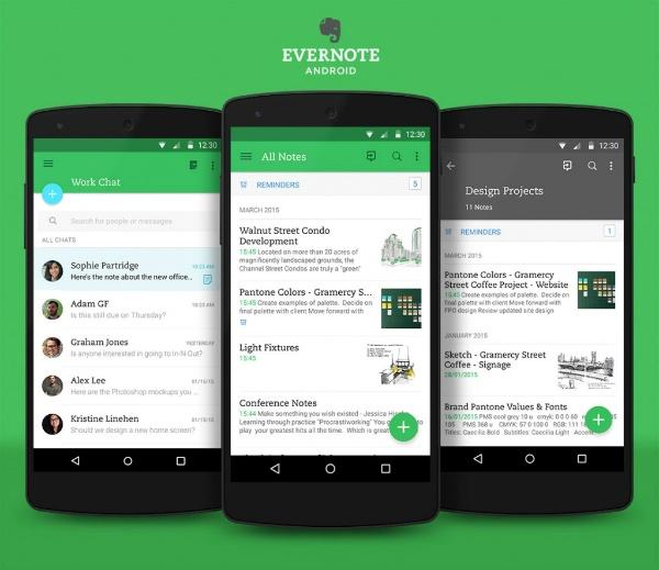 Evernote для Android взял на вооружение Material Design от Google - 1