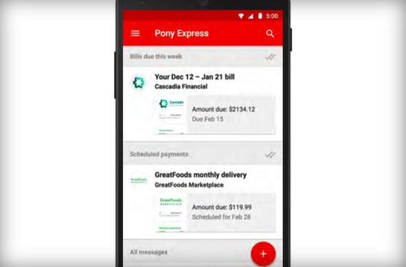 Google позволит оплачивать счета из Gmail с помощью сервиса Pony Express - 1