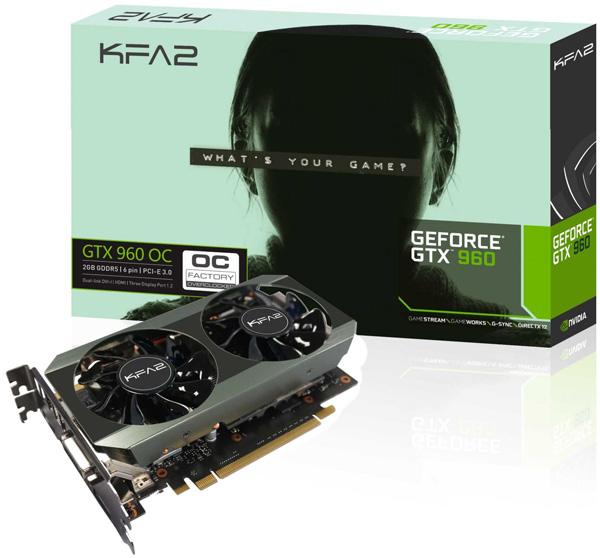 KFA2 GTX 960 OC 2GB