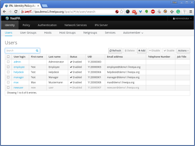 Система централизованного управления авторизацией пользователей на FreeIPA в Docker - 2