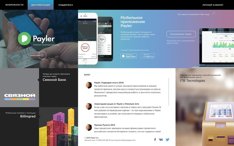 Payler 2.0 — работа над созданием нового сайта - 1