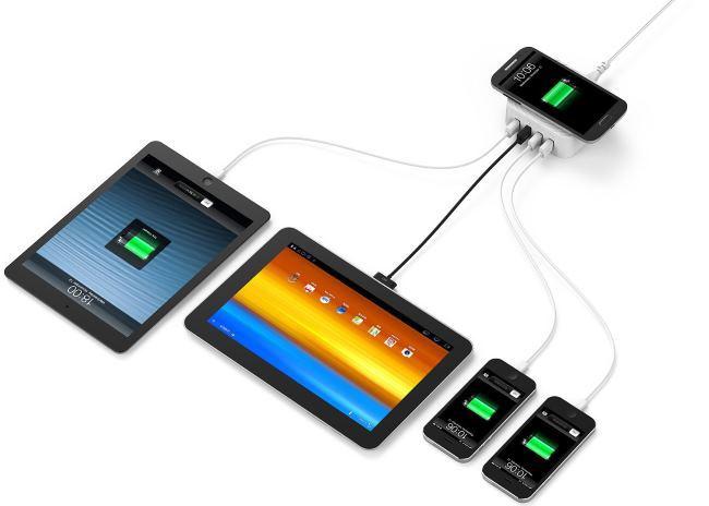 Zendure: зарядное устройство для 4-х гаджетов + 1 место для беспроводной зарядки - 1