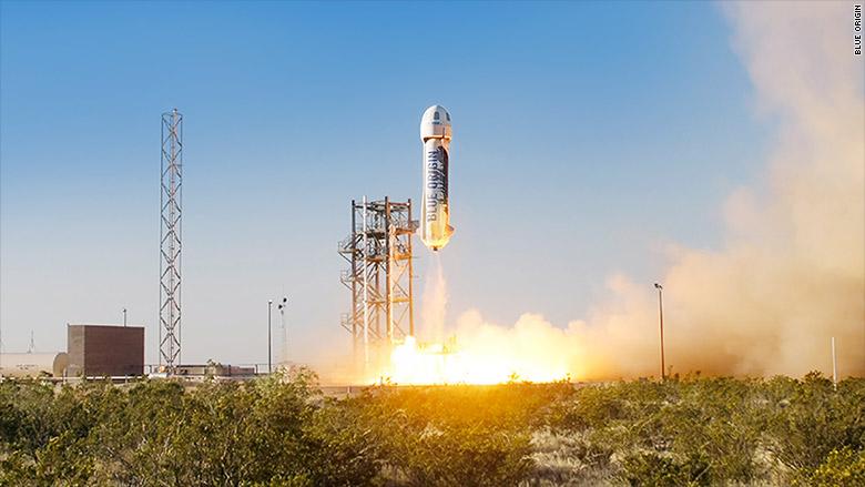 Основатель Amazon сообщил об успешном испытании новой ракеты-носителя New Shepard - 1