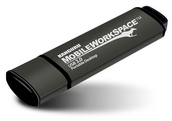 Объем флэш-накопителя Kanguru Mobile WorkSpace — 64 ГБ