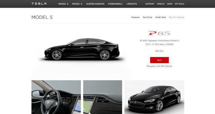 Tesla запустила продажу подержанных электрокаров через Интернет - 2
