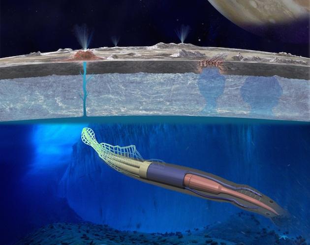 Для исследования Европы NASA предлагает использовать робота-угря - 1