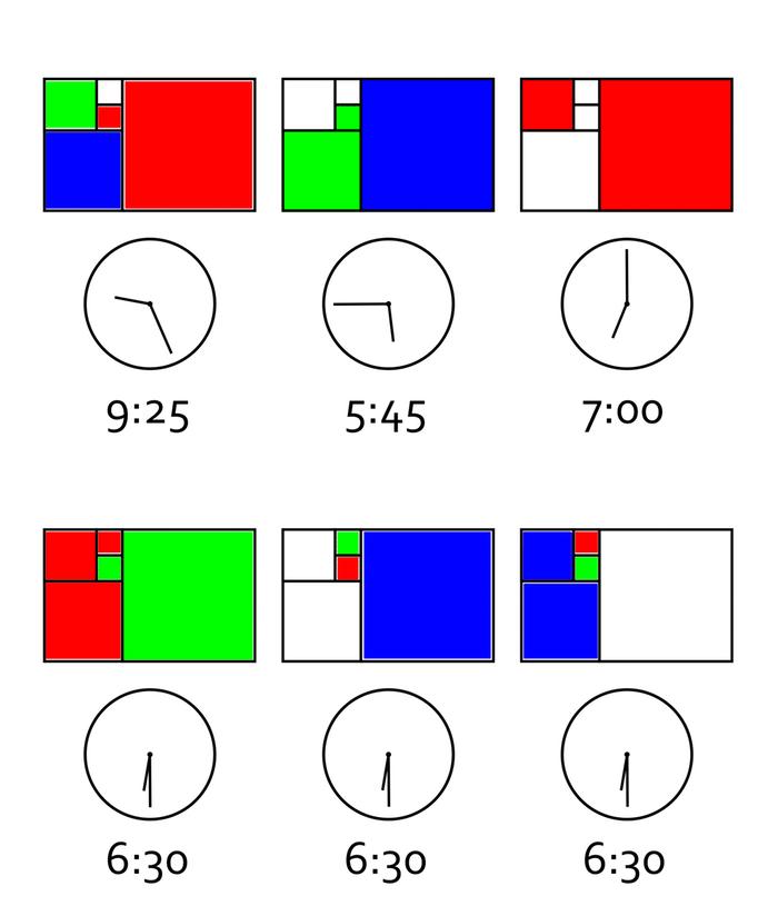 Fibonacci Clock: часы и головоломка - 2