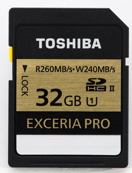 Карты Exceria Pro SD демонстрируют скорость записи до 240 МБ/с и скорость чтения до 260 МБ/с