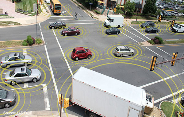 Постоянно поддерживая связь между собой, автомобили смогут информировать водителей о ситуации на дороге