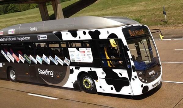 Автобус, заправленный топливом из коровьего навоза, разогнался до 123 км ч - 1