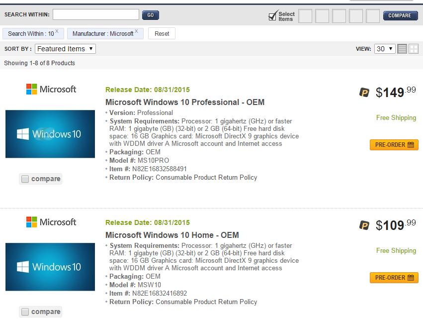 Оглашены цены на Windows 10 (неофициально) - 1