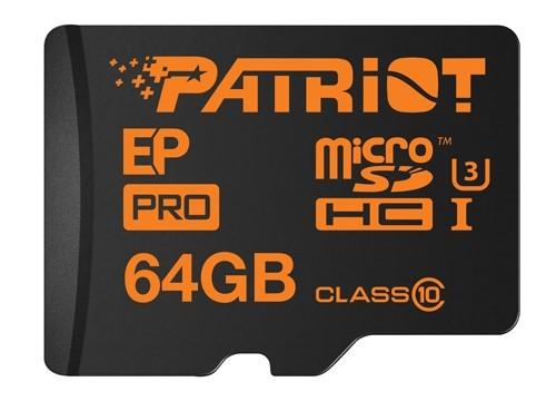 По словам производителя, карты памяти Patriot Memory EP Pro microSDHC/SDXC подходят для записи видео 4К