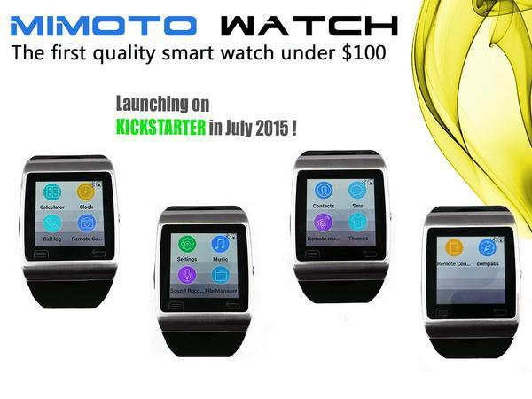 Mimoto Watch — смарт часы за 98 $, которые надо ждать в июле на Kickstarter - 1