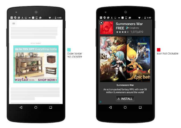 Google избавит пользователей от случайных нажатий баннеров мобильной рекламы - 1