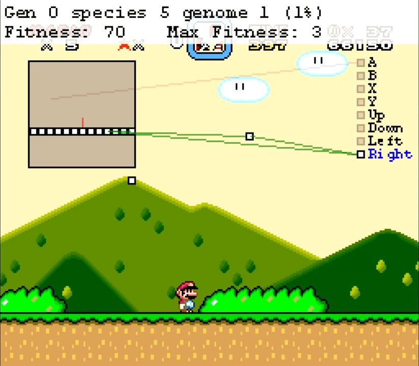 Нейроэволюционный алгоритм учится играть в Mario - 2