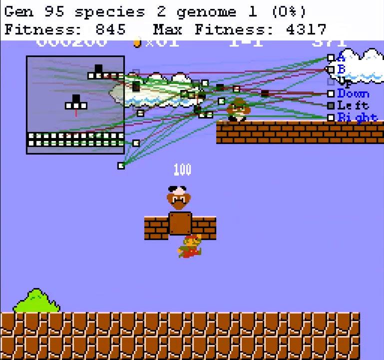 Нейроэволюционный алгоритм учится играть в Mario - 5