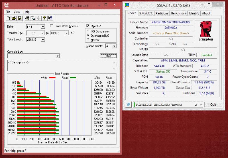 [Тестирование] Твердотельный накопитель Kingston KC310 емкостью 960 гигабайт - 9