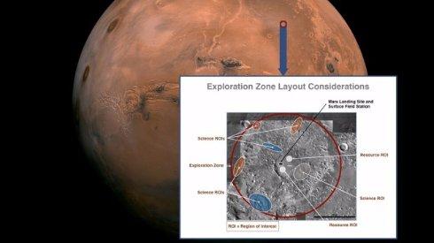 NASA ищет место для высадки людей на Марс