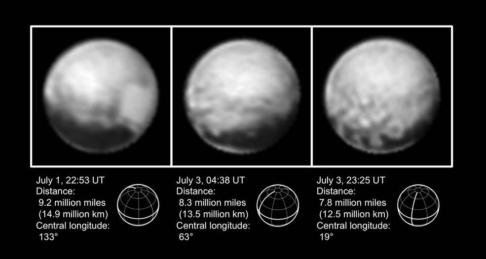 Новые фотографии Плутона от New Horizons (от 3 июля) - 2
