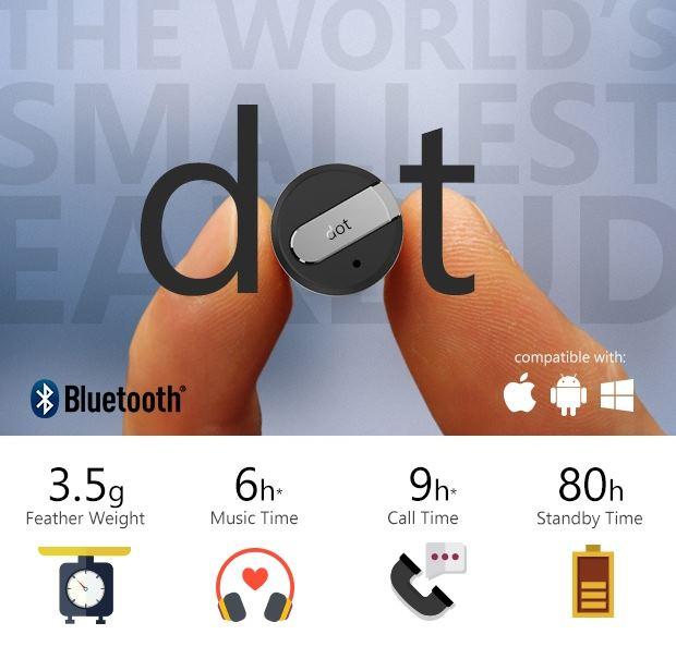 Dot: cамая маленькая в мире Bluetooth-гарнитура - 1