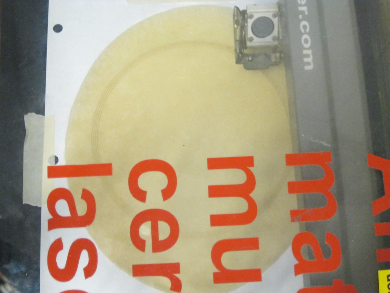 Грампластинка из куска теста - 3