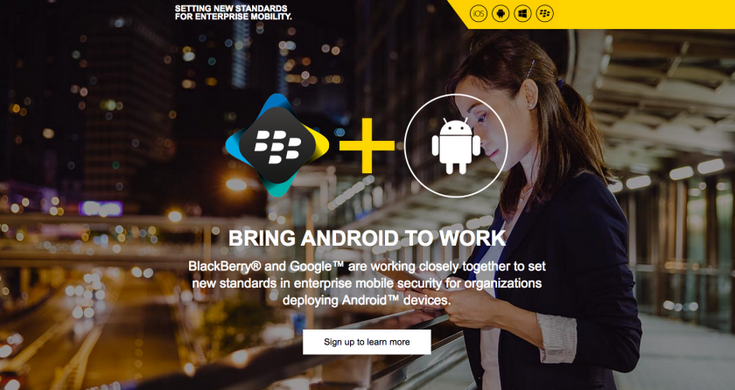 BlacBerry Android Google