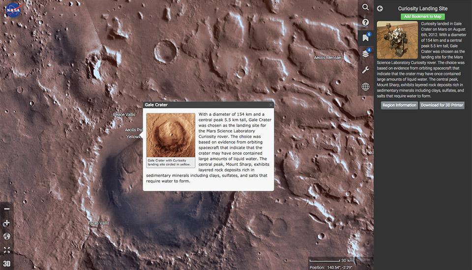 NASA предложила картографический сервис для изучения Марса - 1
