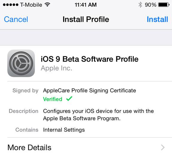 Релиз финальной версии iOS 9 запланирован на осень этого года