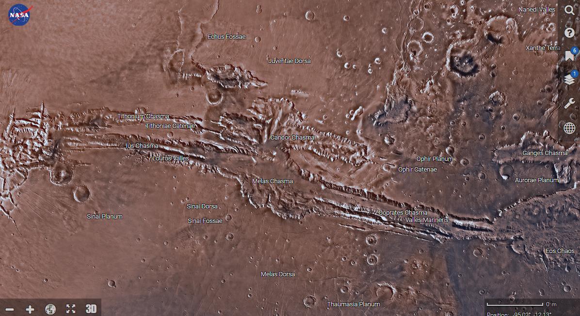 Новая карта Марса от NASA - 1