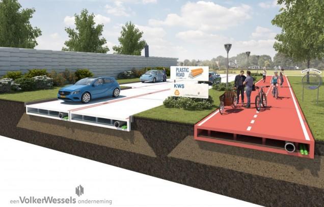 В Голландии начинают тестировать пластиковые автодороги - 1