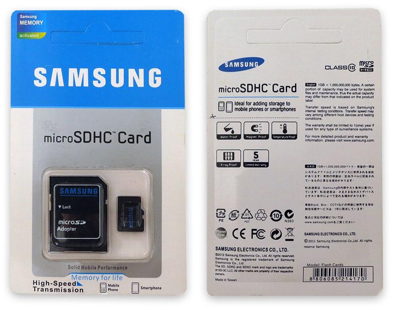 Подделка на Samsung 512GB Micro SD