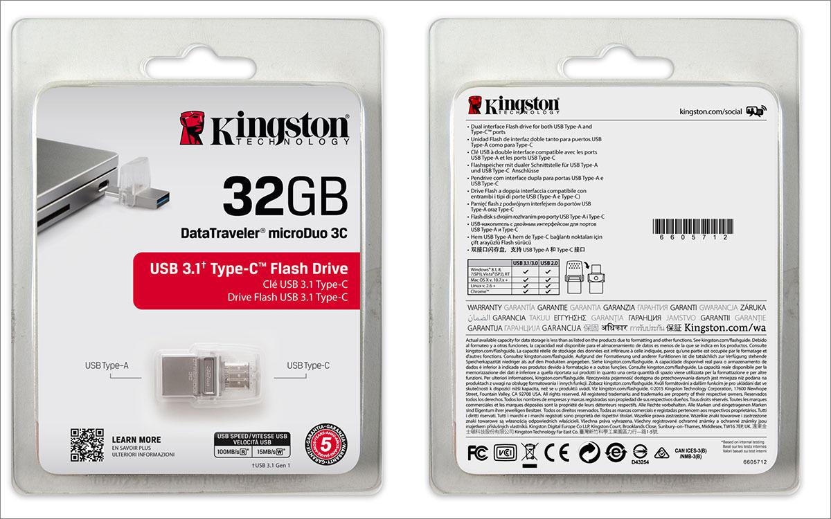 [Тестирование] USB накопитель Kingston с разъемом Type-C — DataTraveler microDuo 3C — емкостью 32 гигабайта - 2